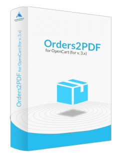 Orders2PDF for OpenCart (for v. 3.x)
