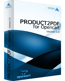 Product2PDF for Opencart for v. 2.0