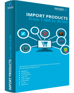 Import products from 1 000 to 30 000